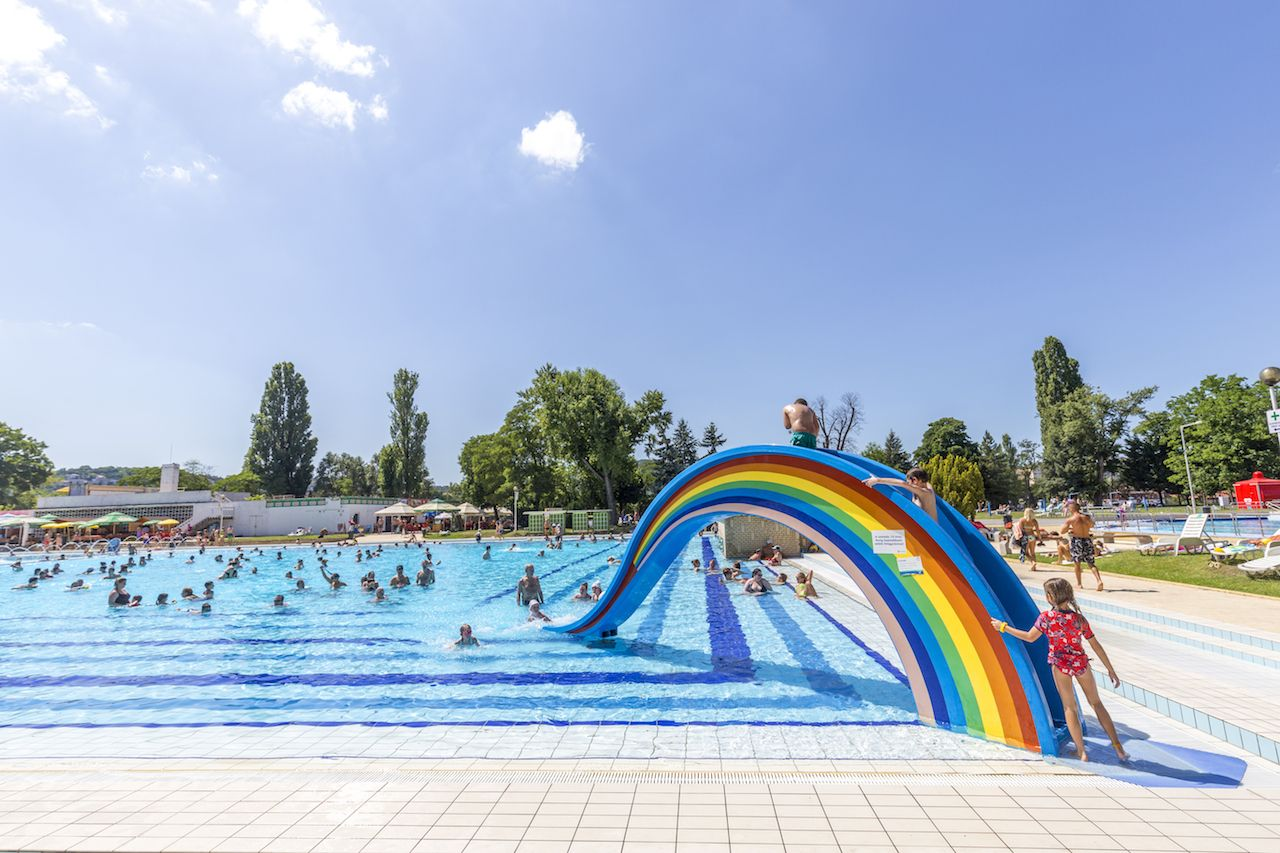 Rainbow slide at thermal bath in Budapest