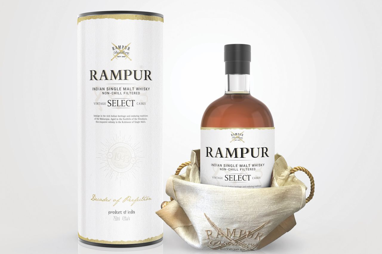 Rampur whiskey bottle