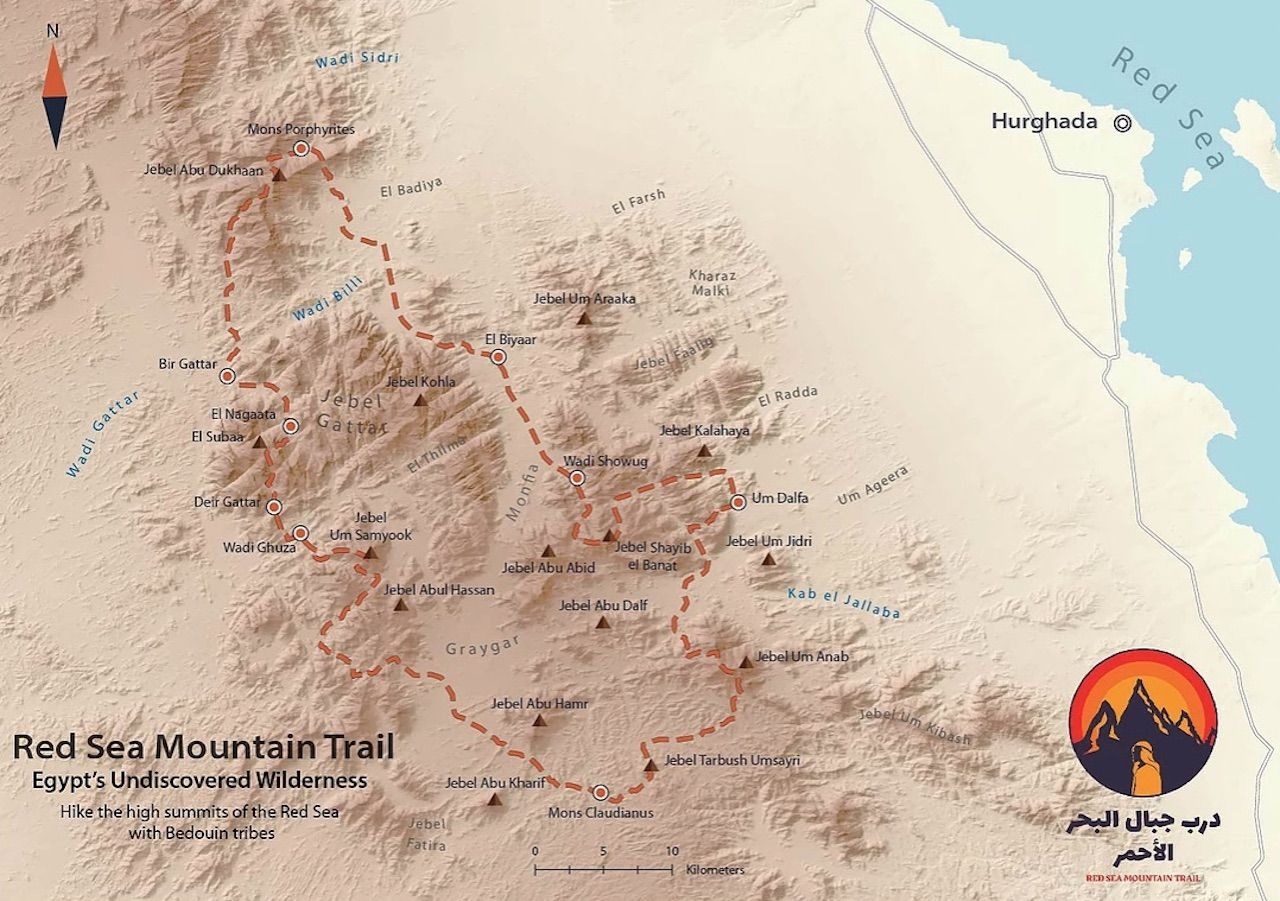 Red Sea Mountain Trail map