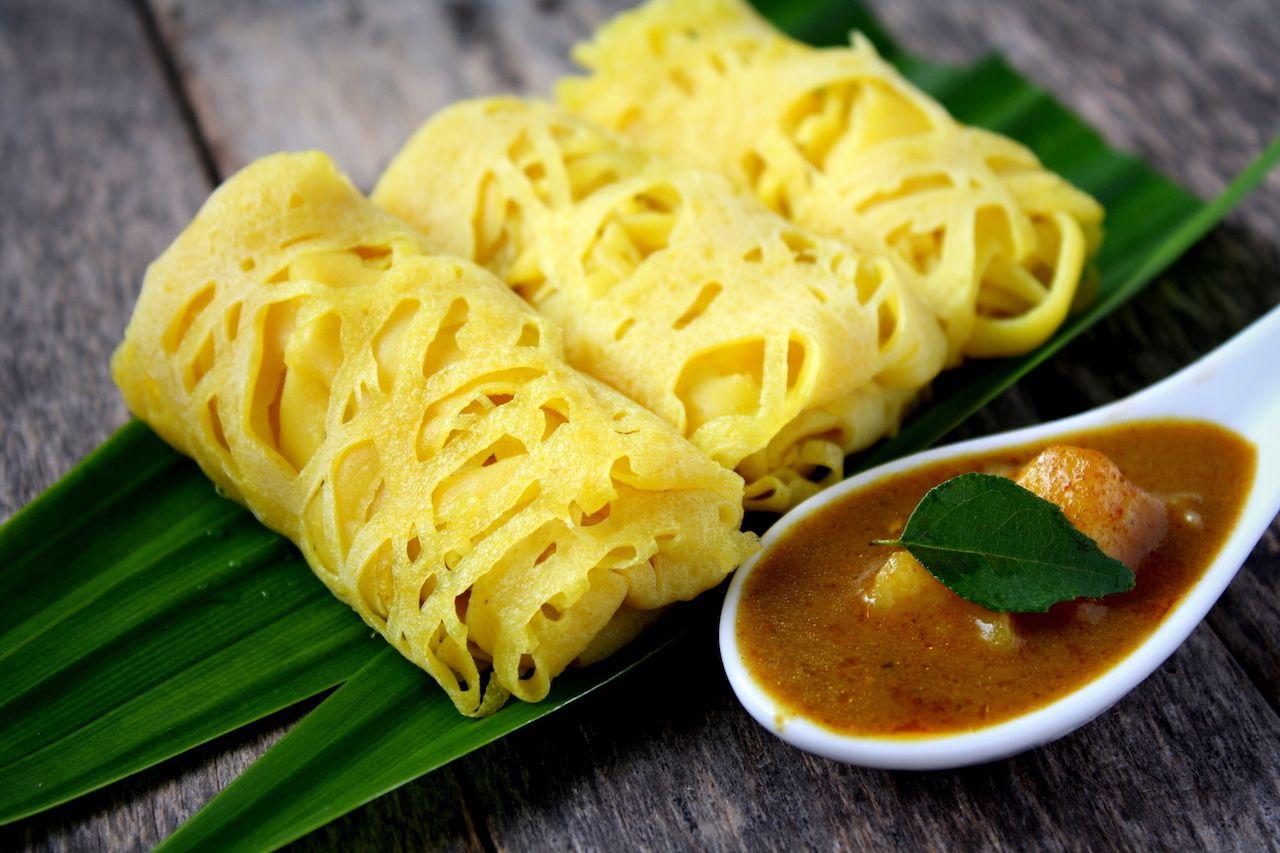 Roti jala, traditional Malaysian cake