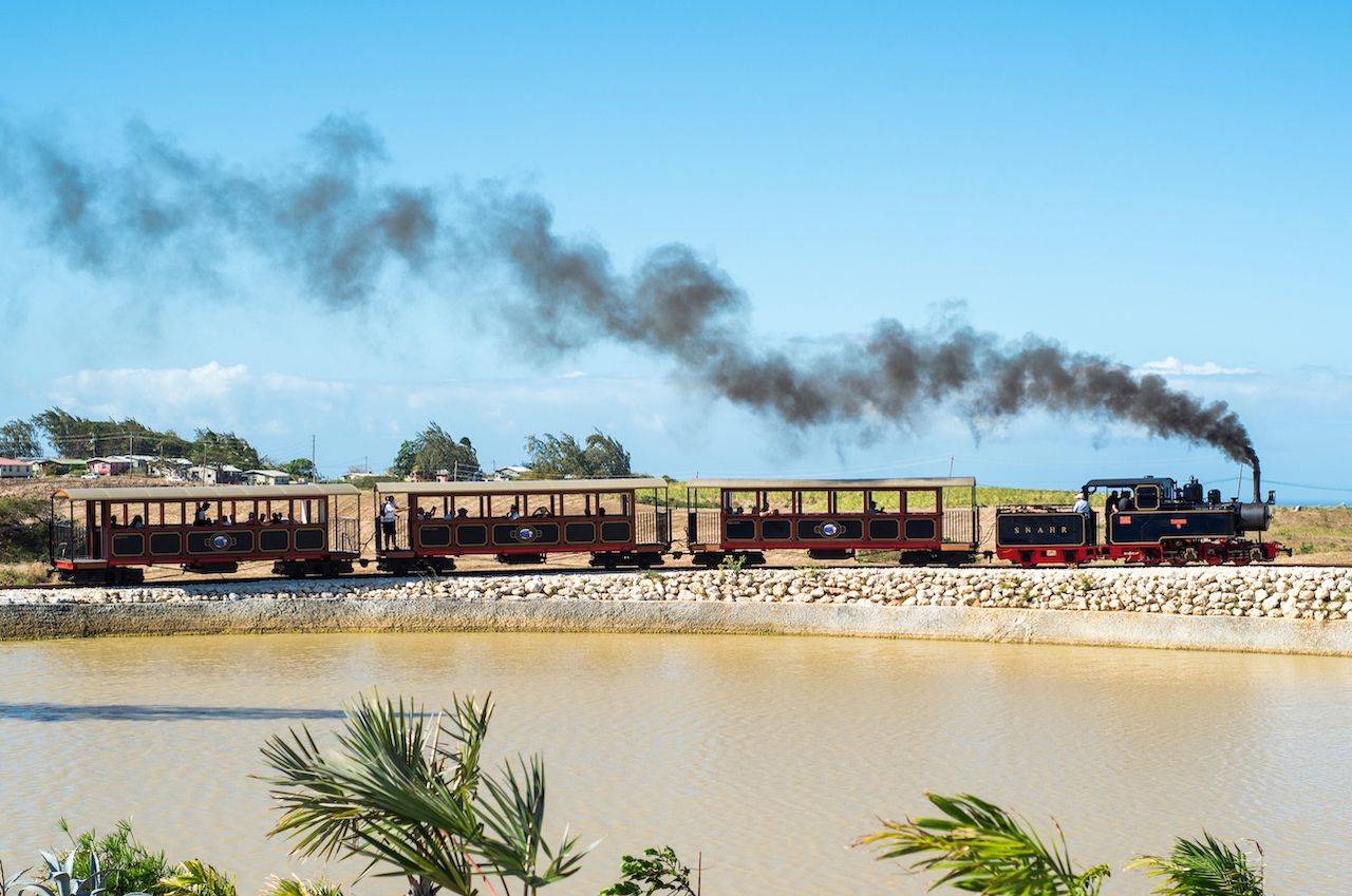 Rum train in Barbados