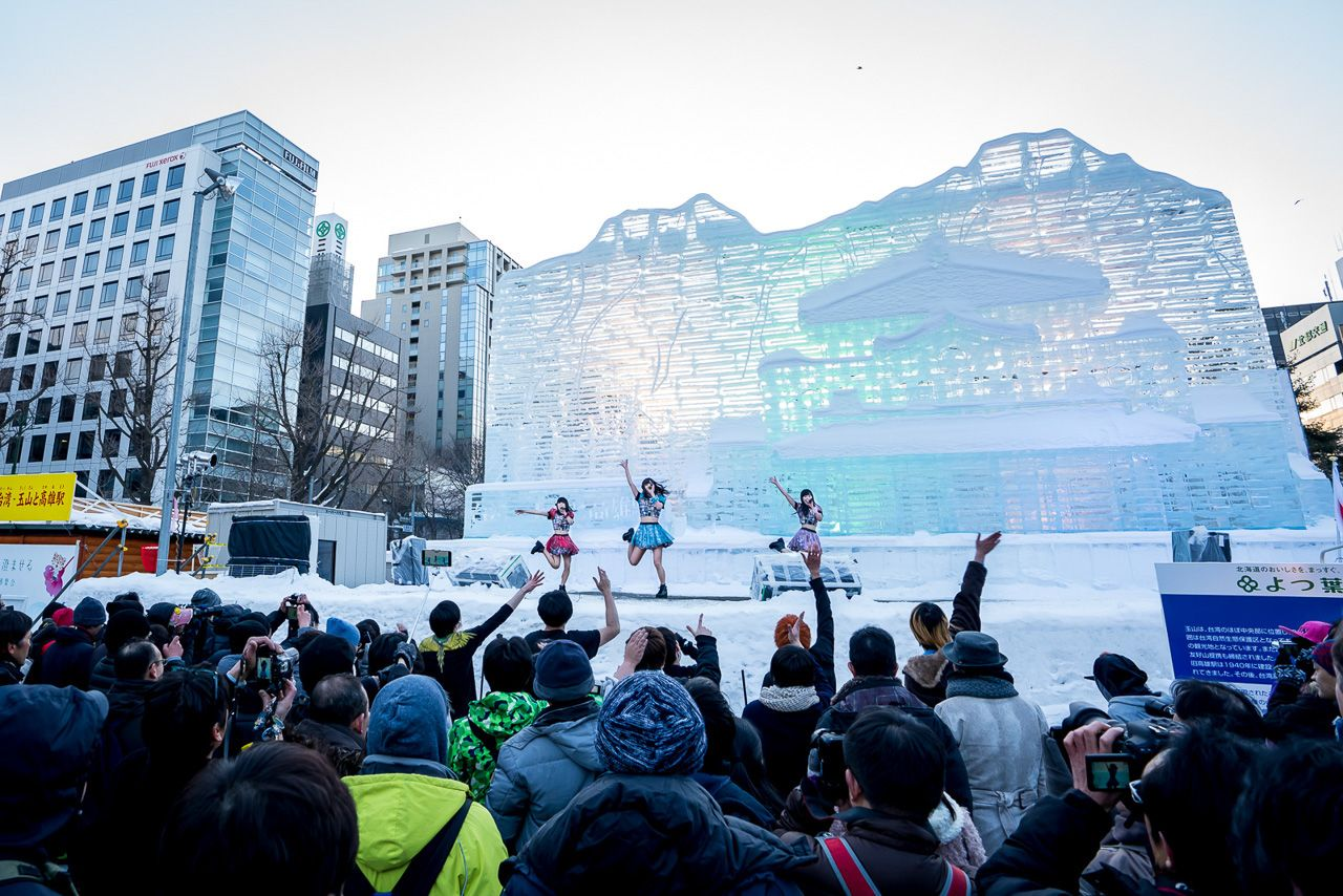Cathedrals of ice illuminated in neon lights.. The post The Sapporo Snow Festival is a feast for the eyes, and you need to see it appeared first on Matador Network..