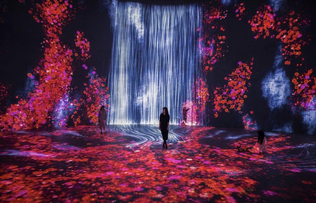 Immersive art exhibit in Shanghai