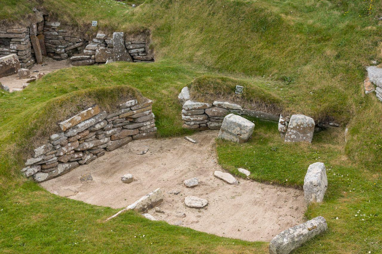 Skara Brae Neolithic Settlement in Orkneys, Scotland