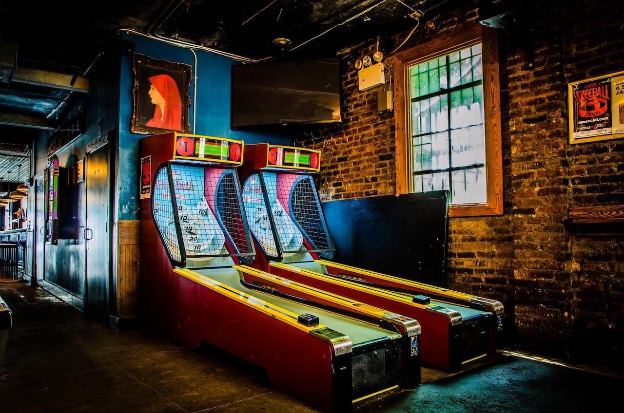 Skee-Ball machines at Ace Bar, New York