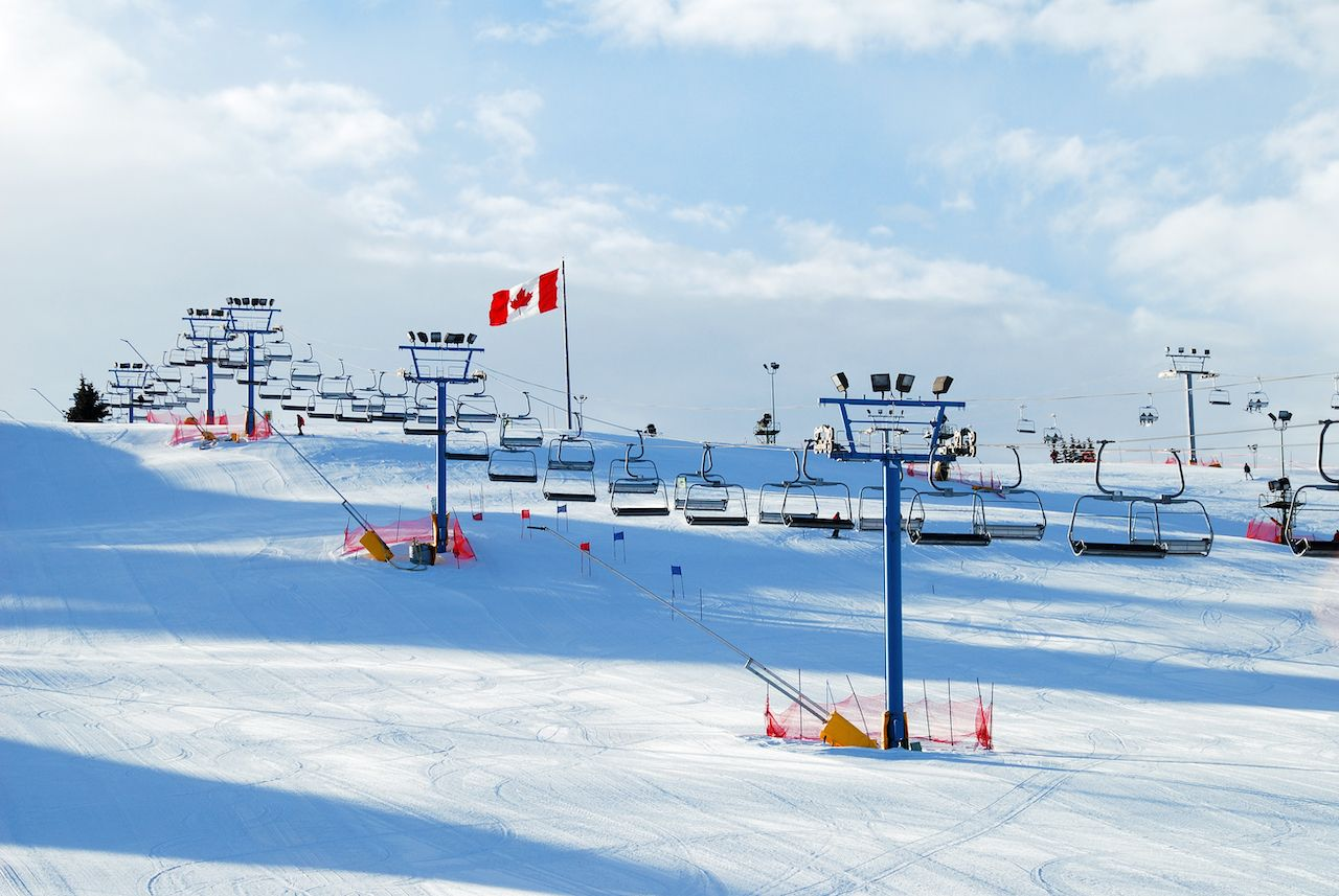 Ski hill at Canada olympic park, Calgary