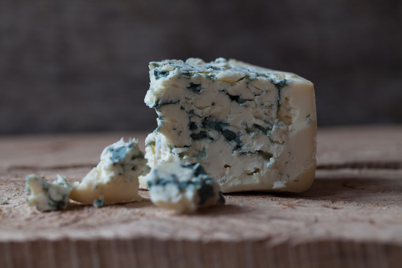 Why is blue cheese blue