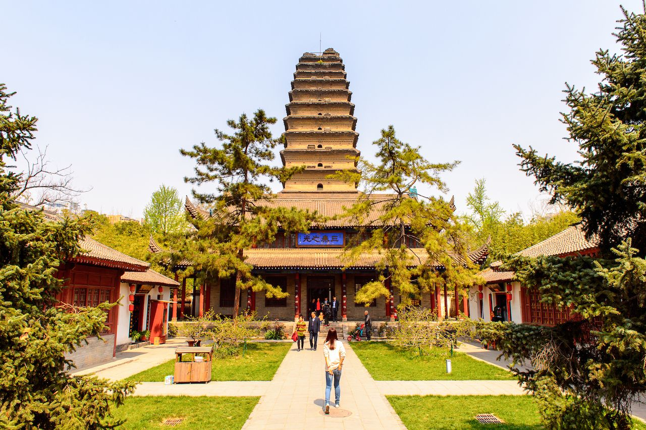 Small Wild Goose Pagoda, XIan, Shaanxi, China