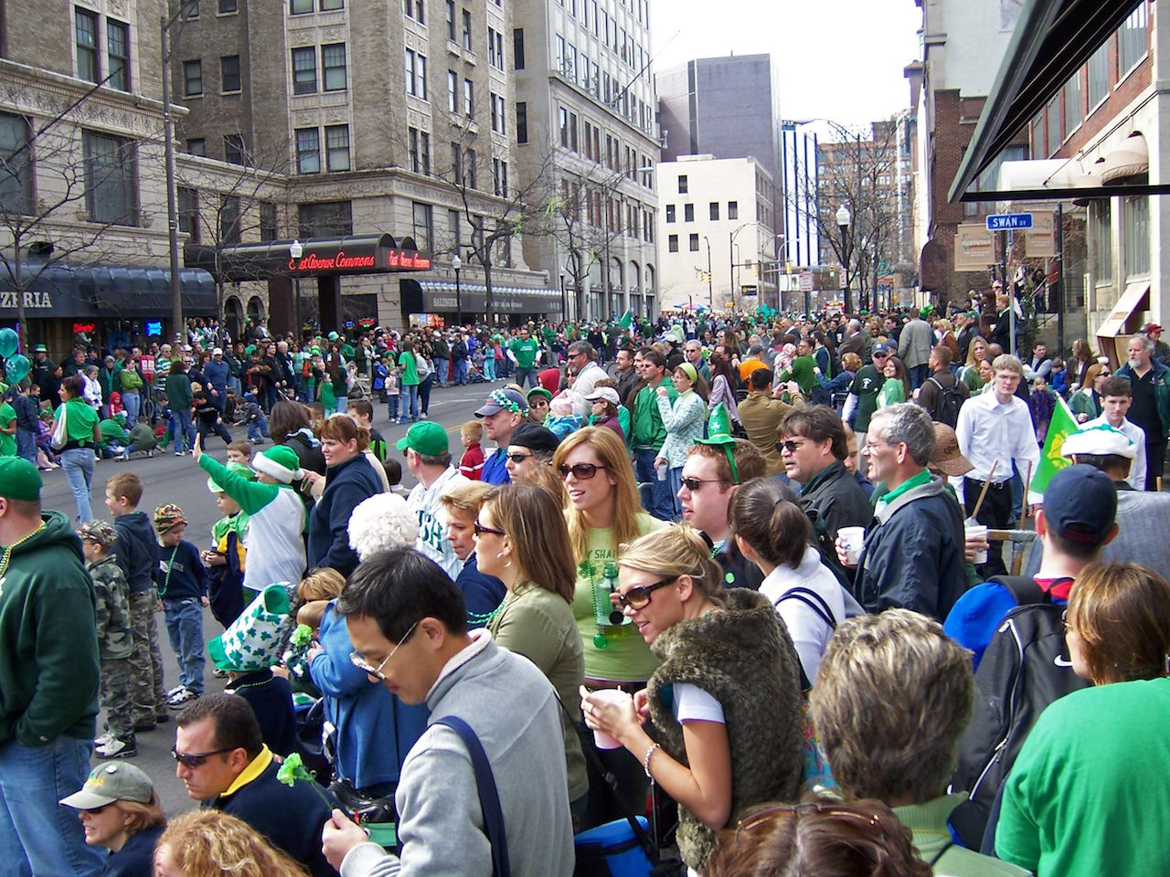 St Paddys Day parade celebrants