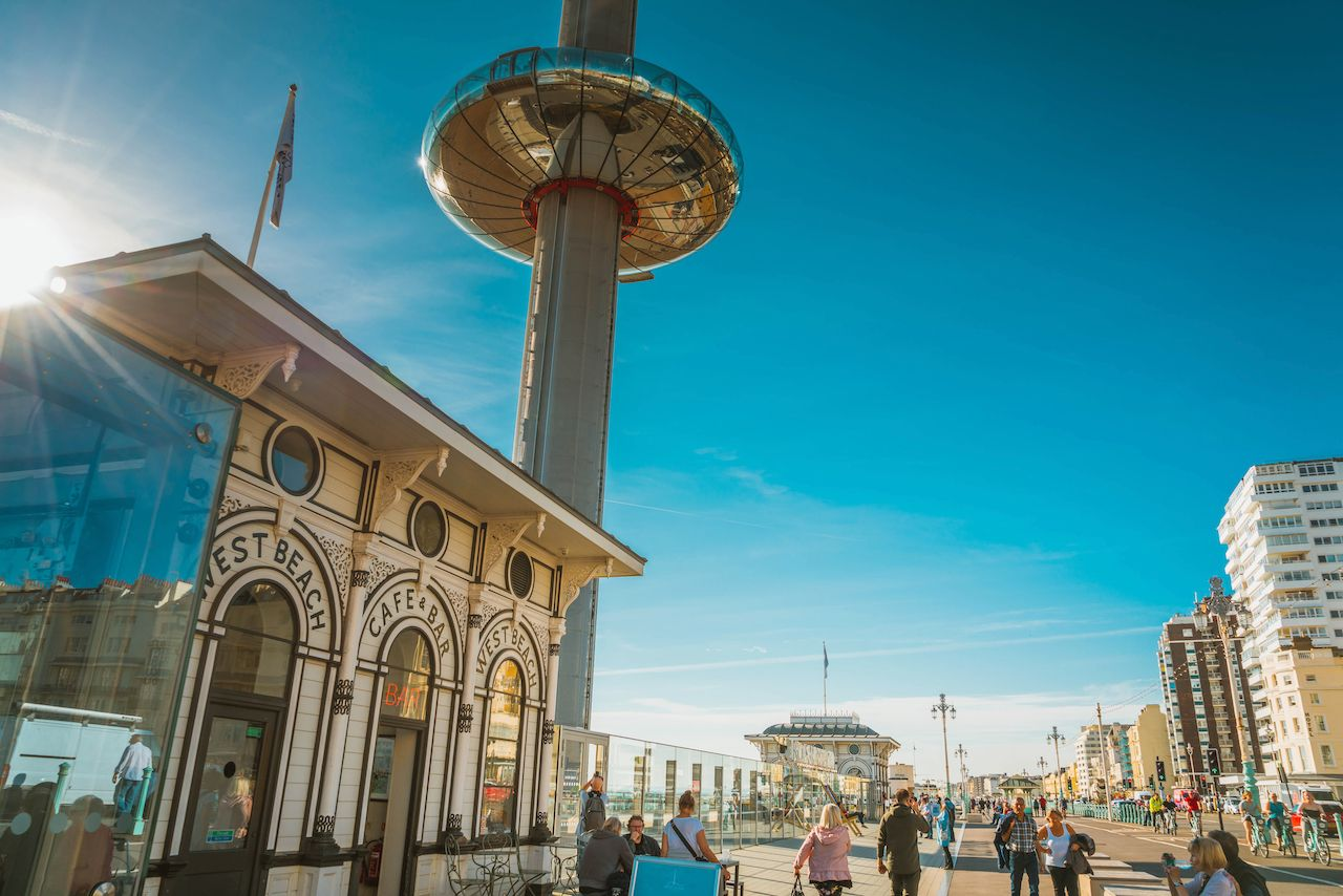 The British Airways i360 skyline tower, Brighton