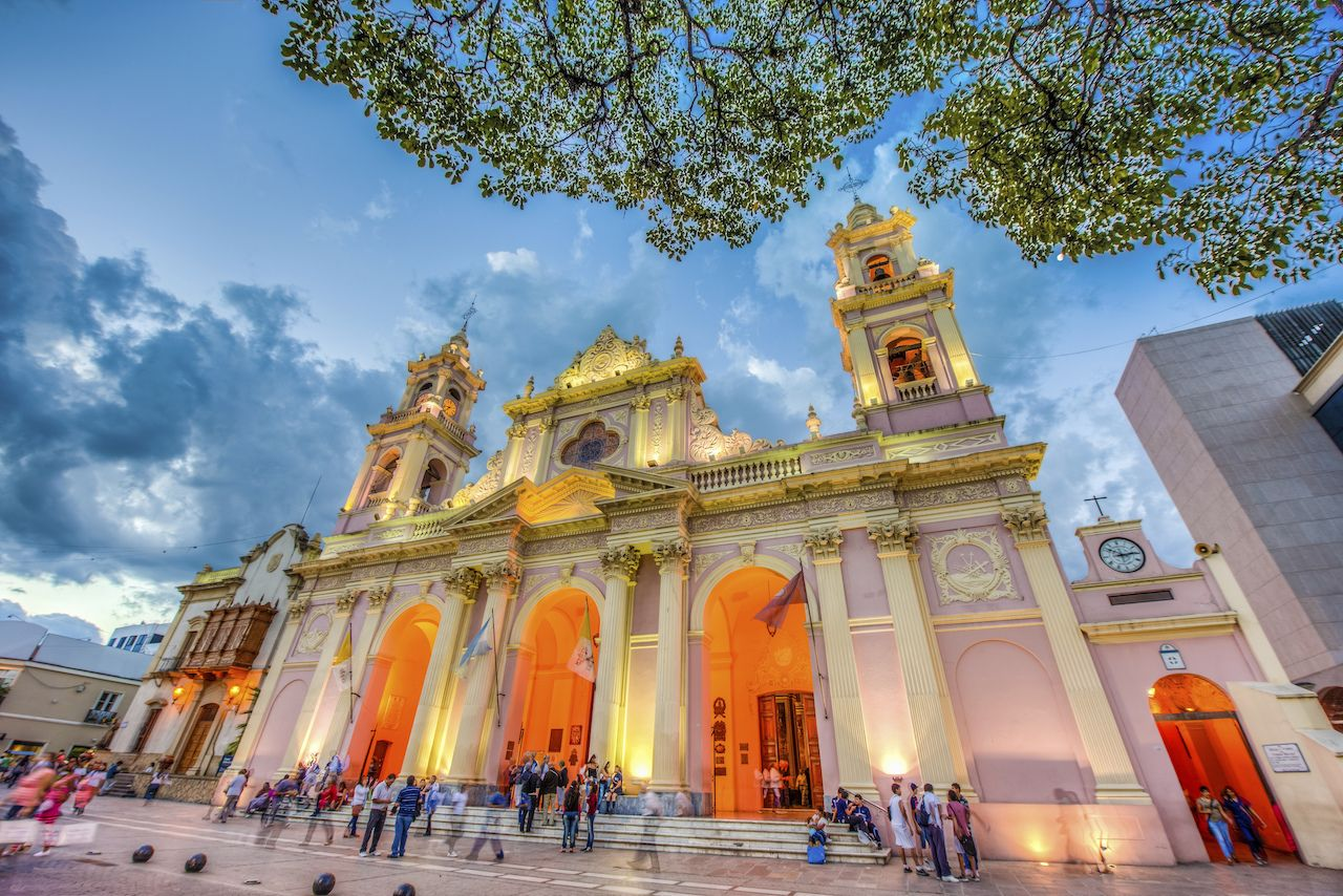 The Cathedral Basilica and Sanctuary of the Lord and the Virgin of the Miracle in Salta, Argentina