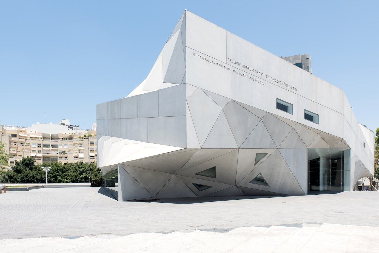The building of the Museum of modern art of Tel Aviv, Israel