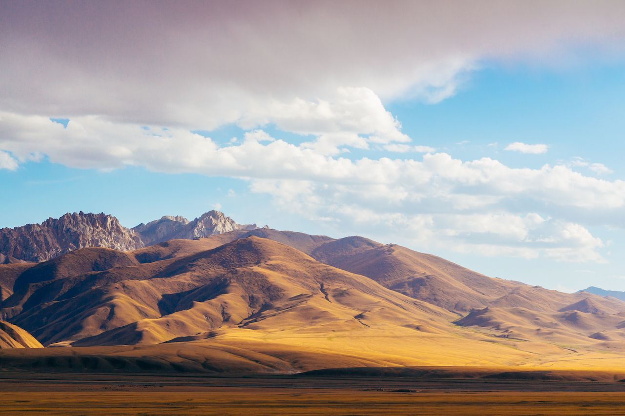 Tien Shan mountain range in Central Asia