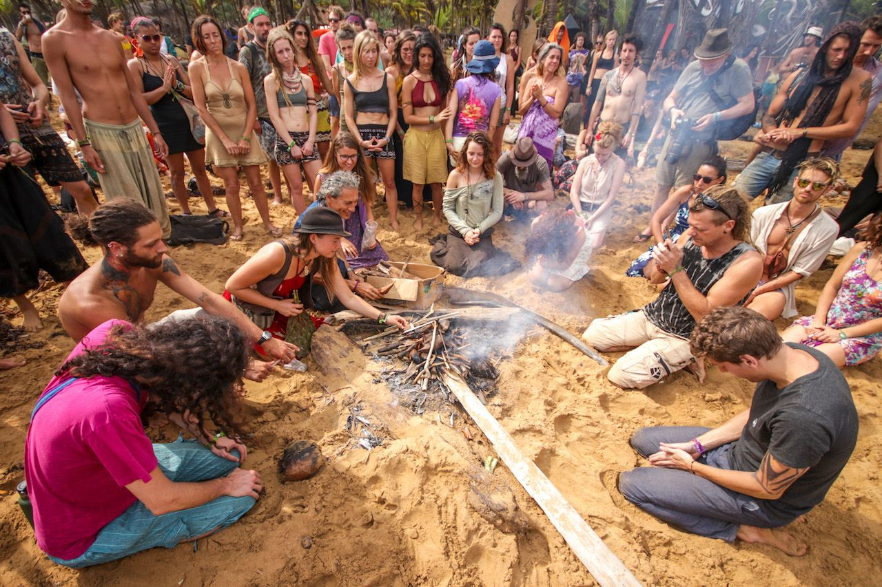 Tribes and Trance festival ceremony