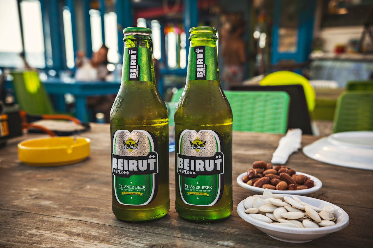 Two bottles of beer, Beirut, Lebanon