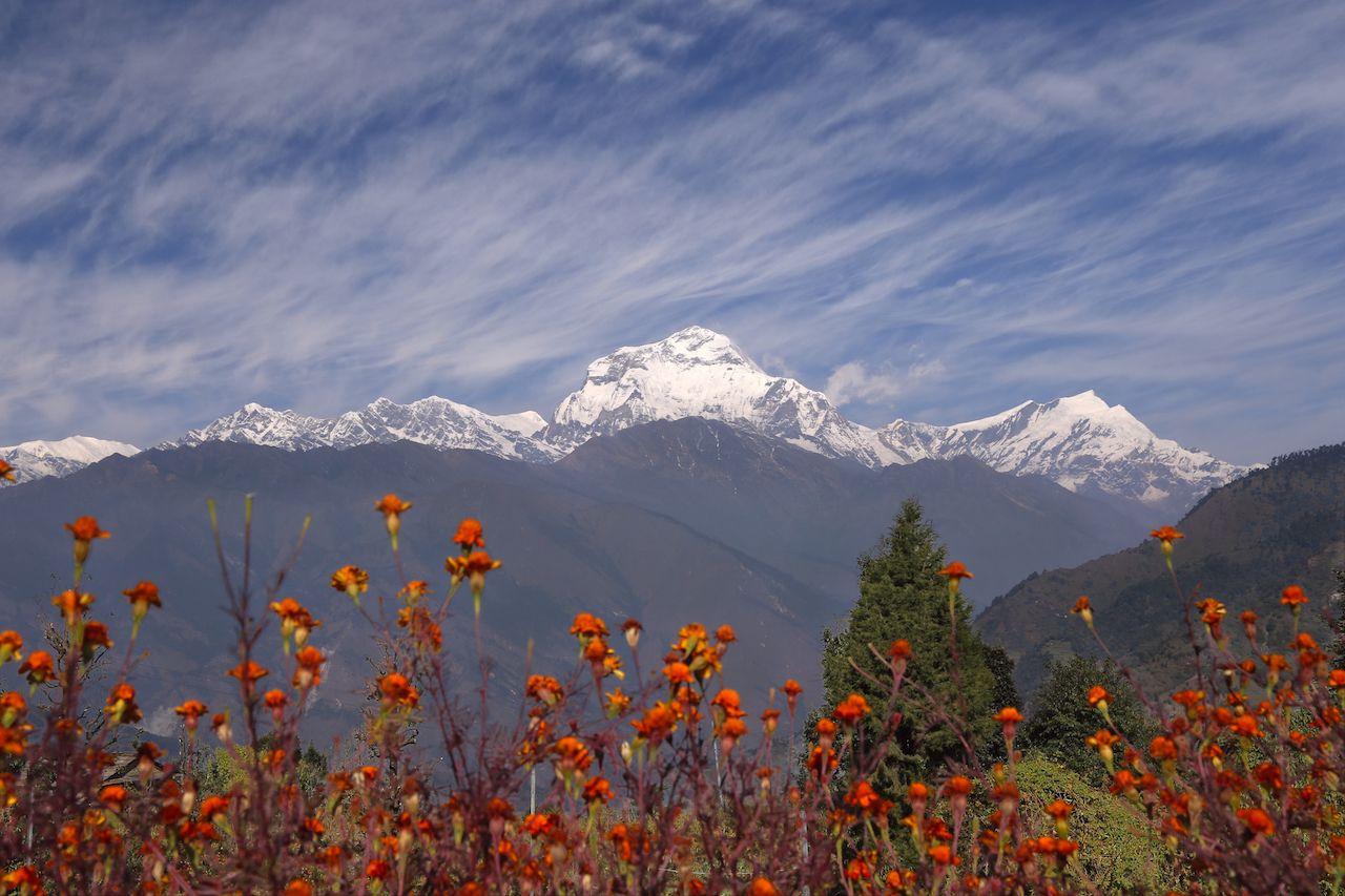 View at the Annapurna Himalaya Range