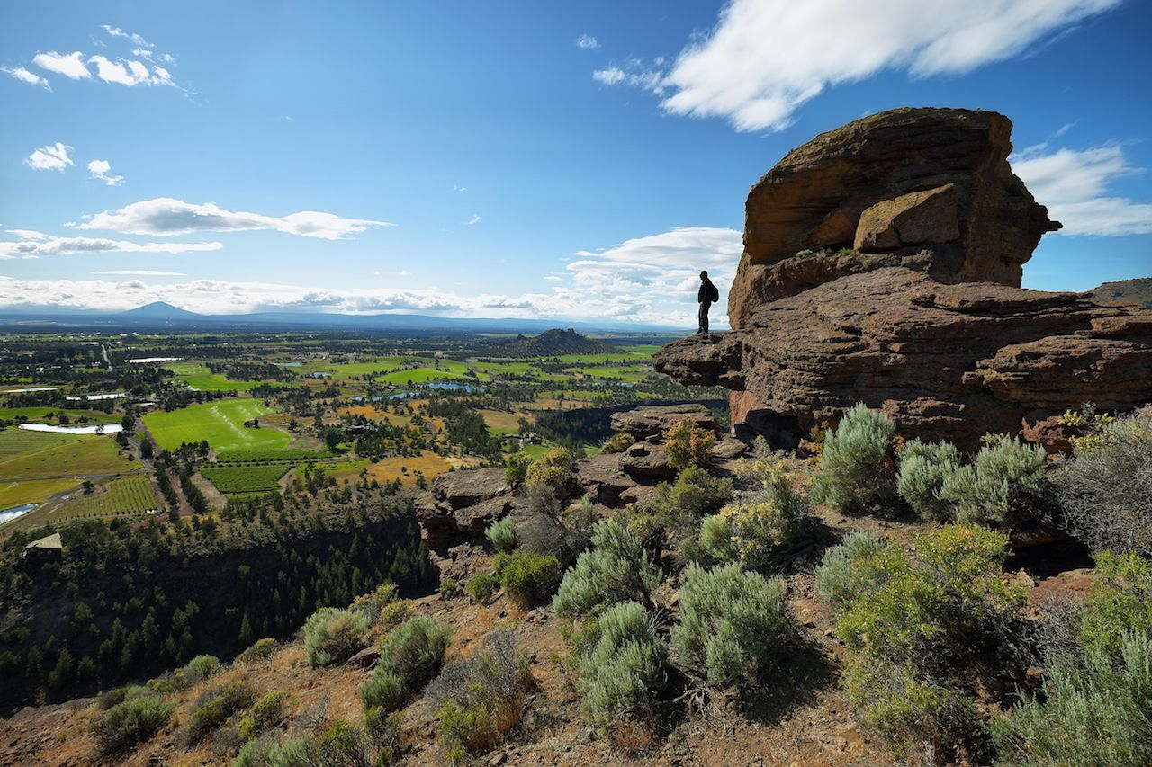 View of Monkey Face from Misery Ridge, Smith Rock Park, Oregon