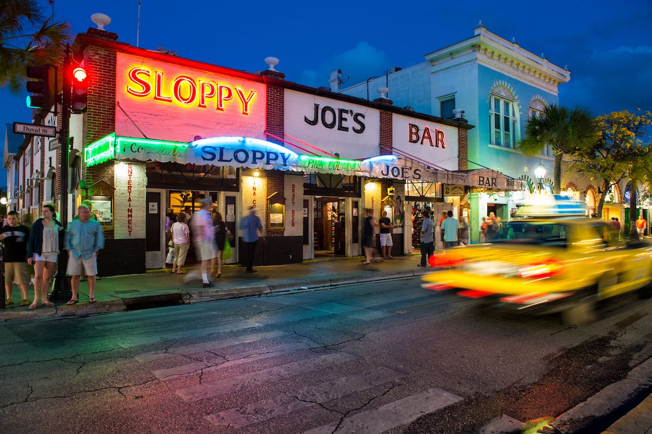 Slopppy Joe's Bar in Duval Street a landmark in Key West