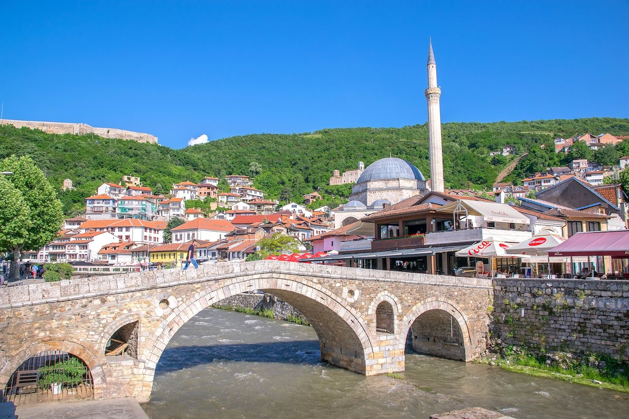 historic city on the banks of the Prizren Bistrica river