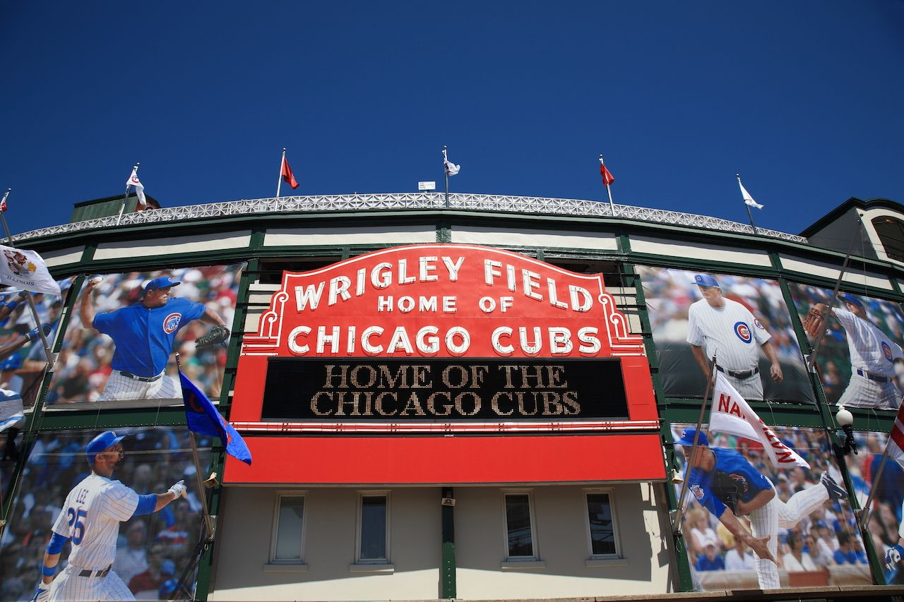 A colorful new look for classic Wrigley Field highlights the famous welcome sign