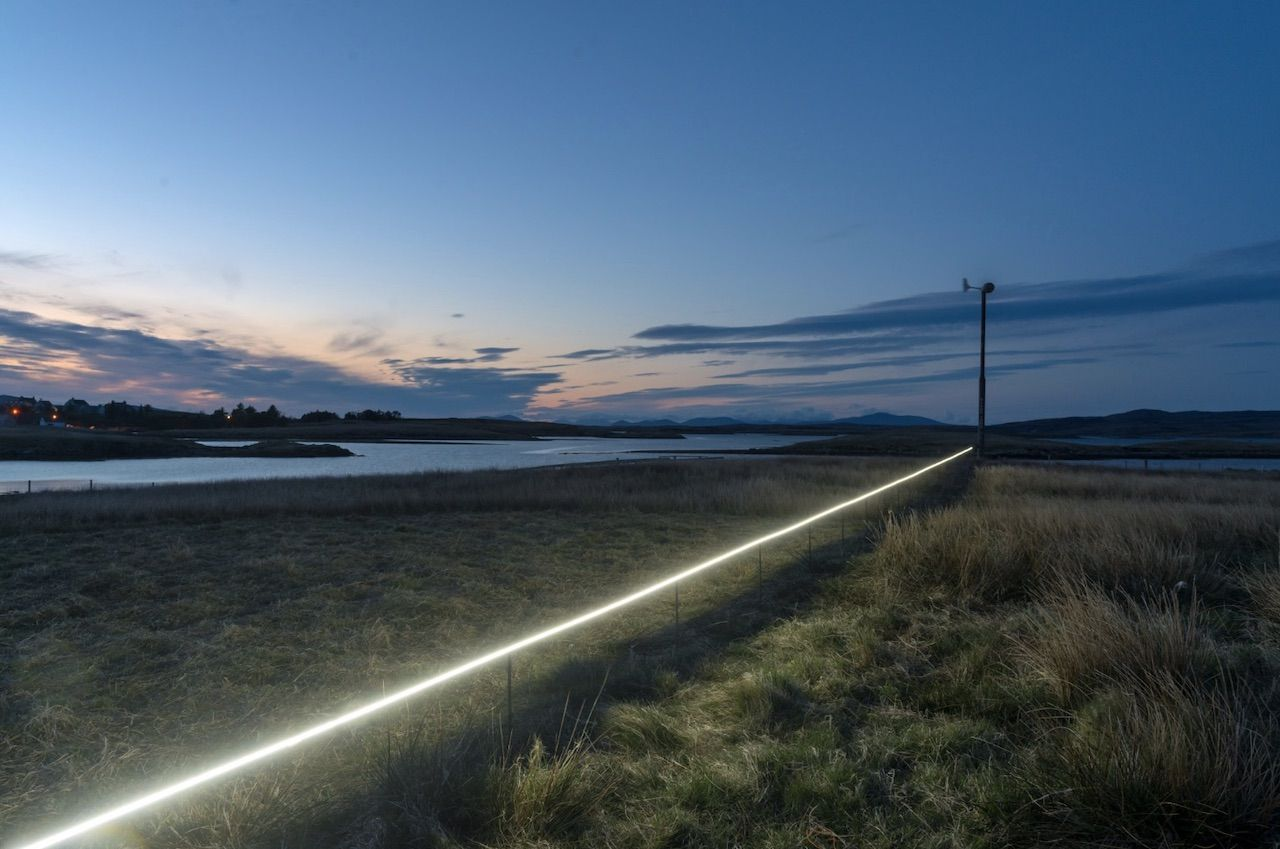 Art installation about rising sea levels in Scotland
