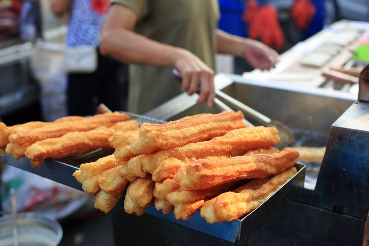 long fried donuts