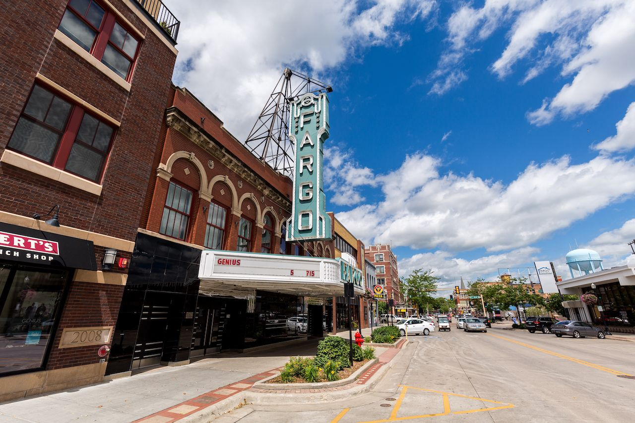 Fargo, North Dakota - Downtown Fargo and the Fargo movie theater