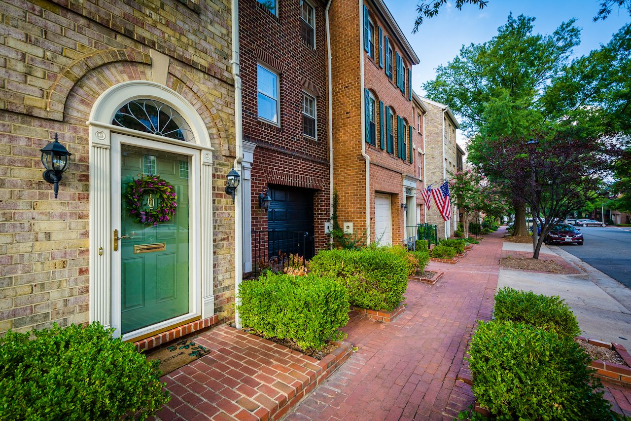 Houses in the Old Town of Alexandria, Virginia