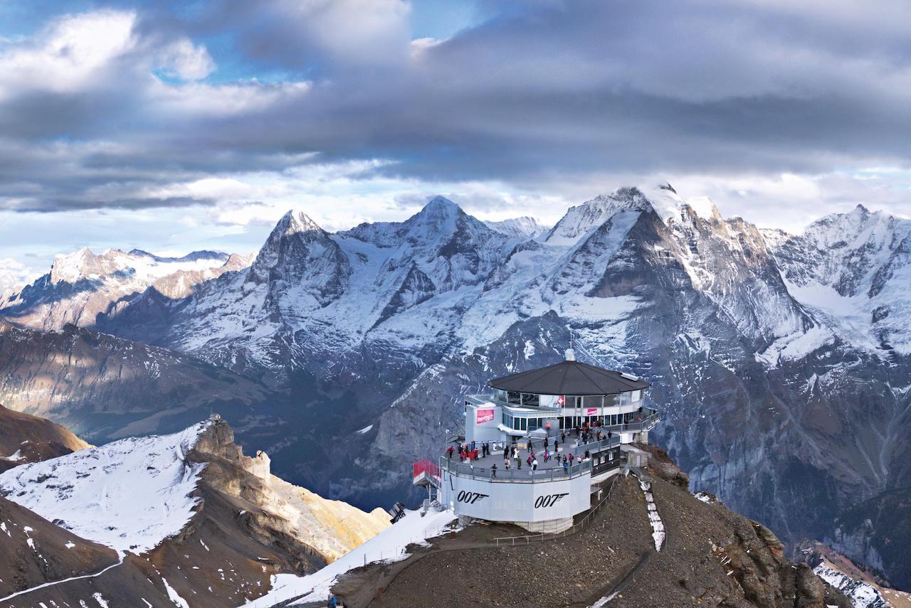 007 restaurant in Swiss Alps