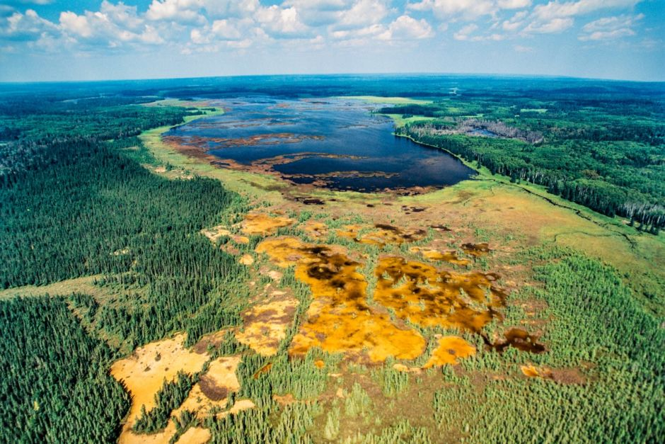 Aerial view Riding Mountain National Park Manitoba Canada