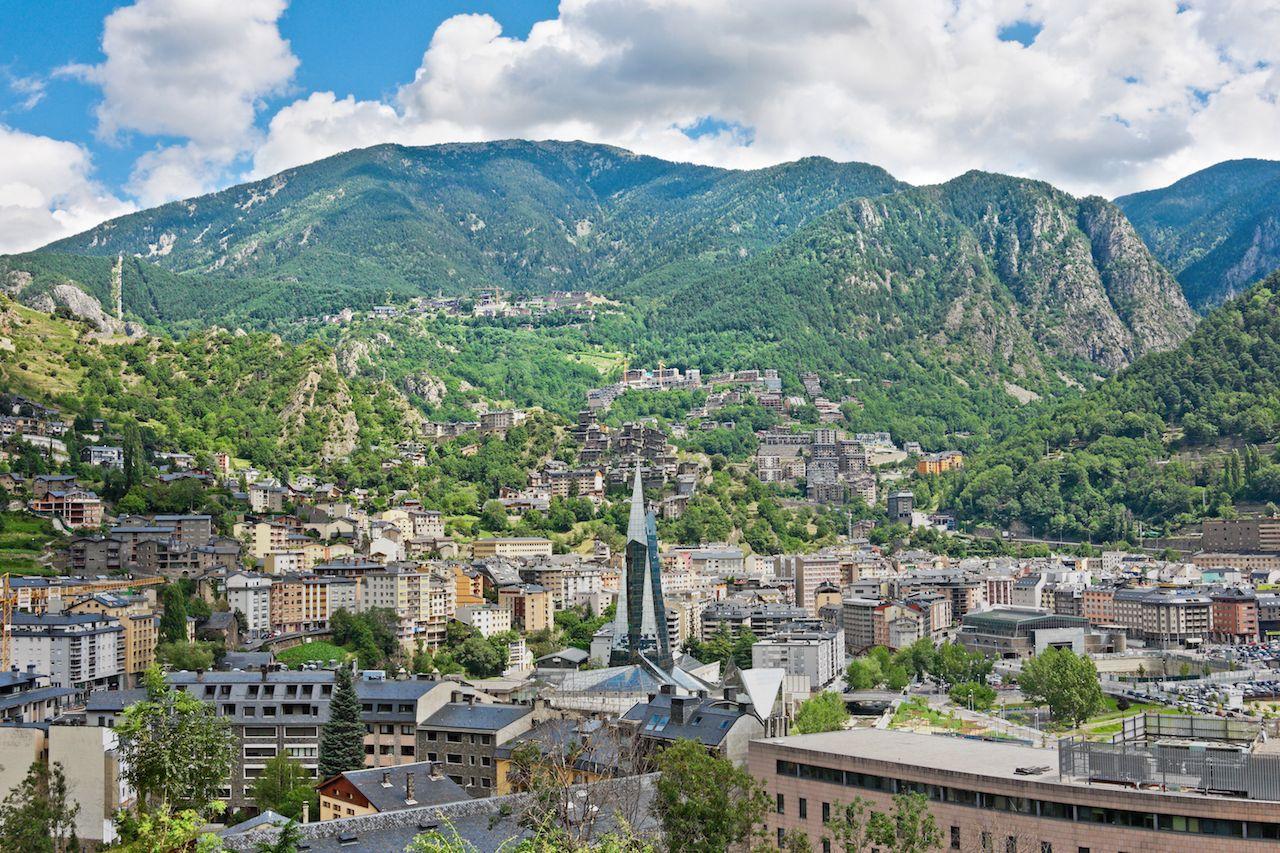 Aerial view of Andorra la Vella, Andorra