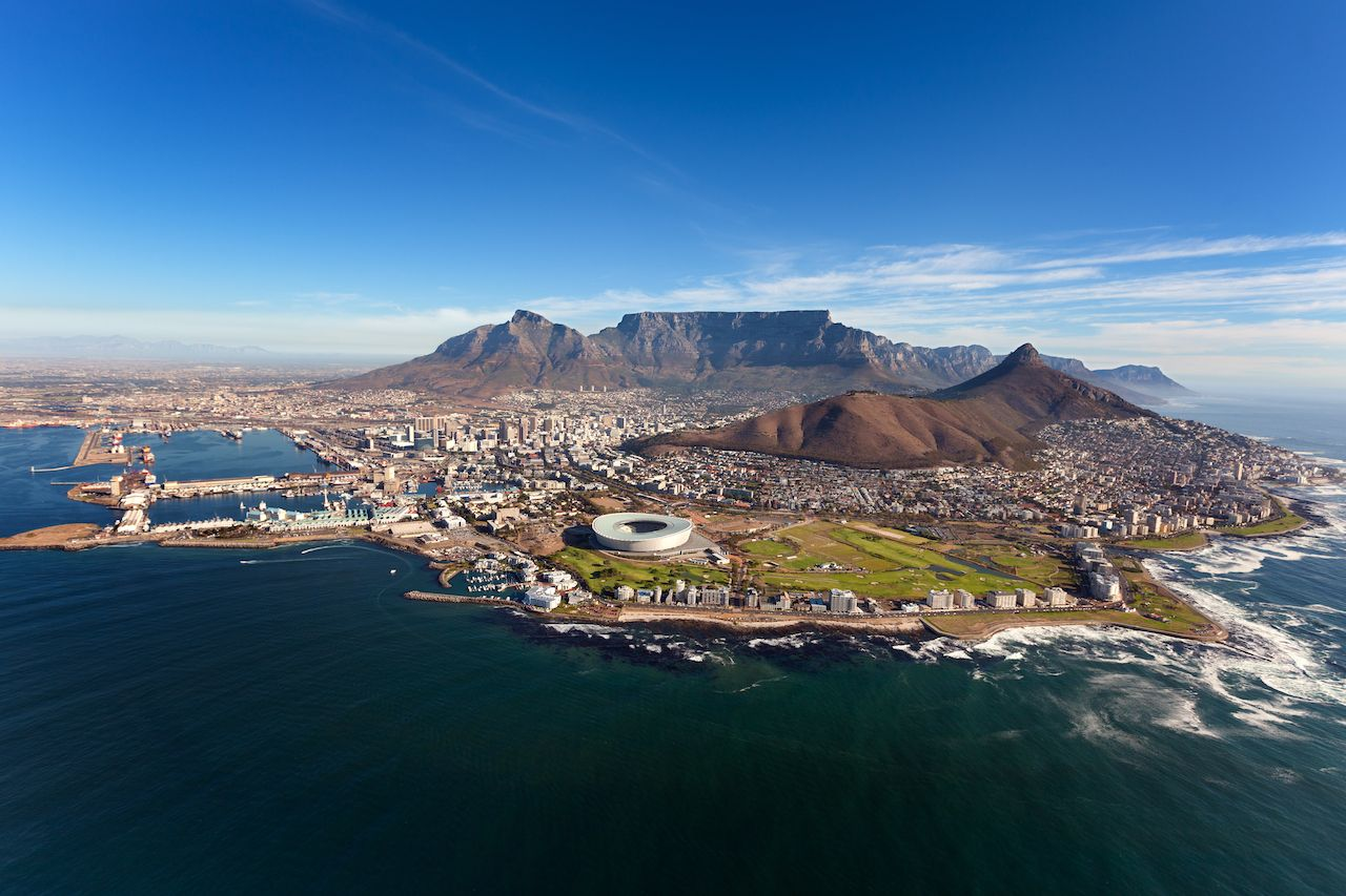 Aerial view of Cape Peninsula, Cape Town, South Africa