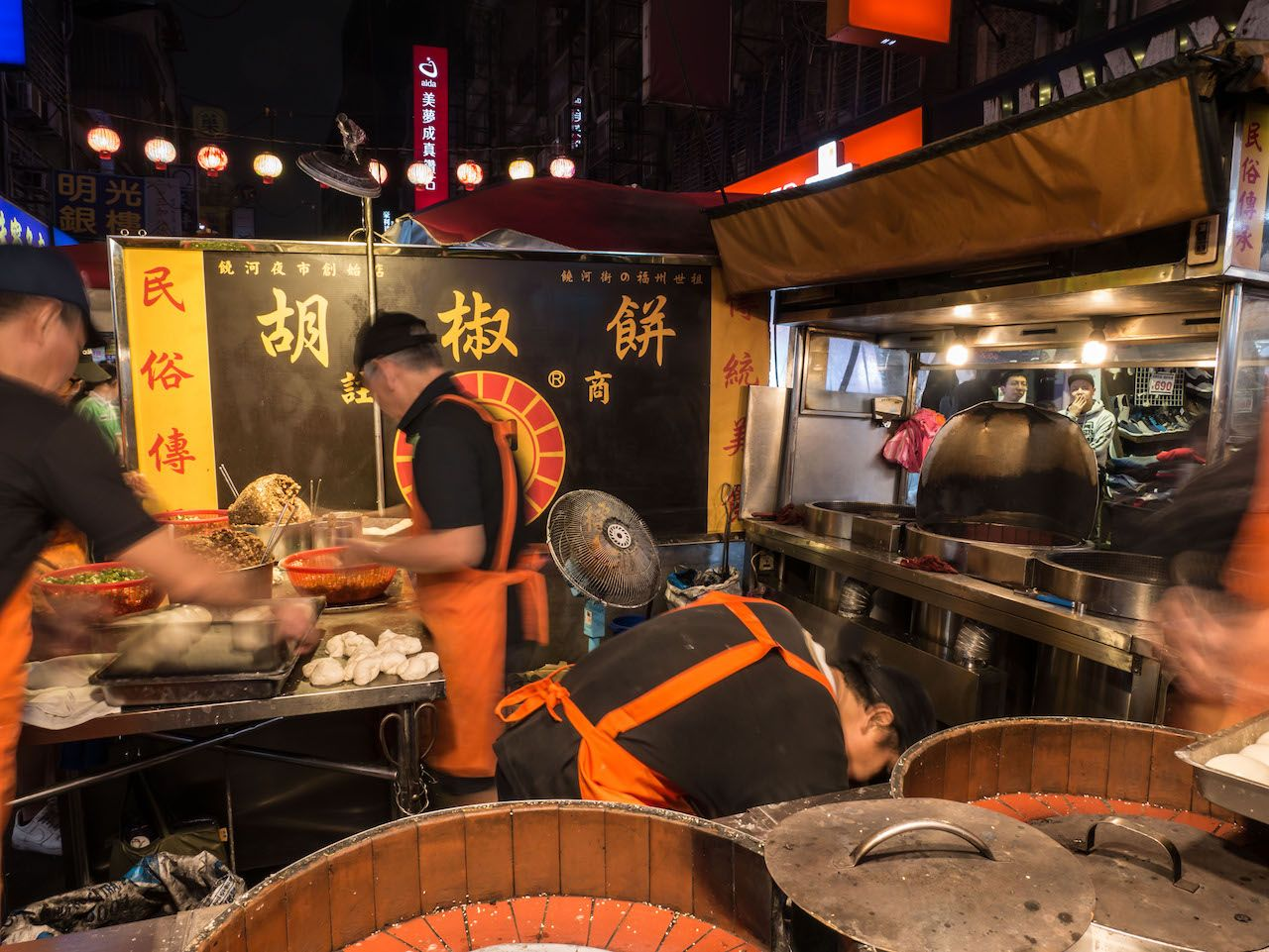 BaoZi street food stamp in Taipei