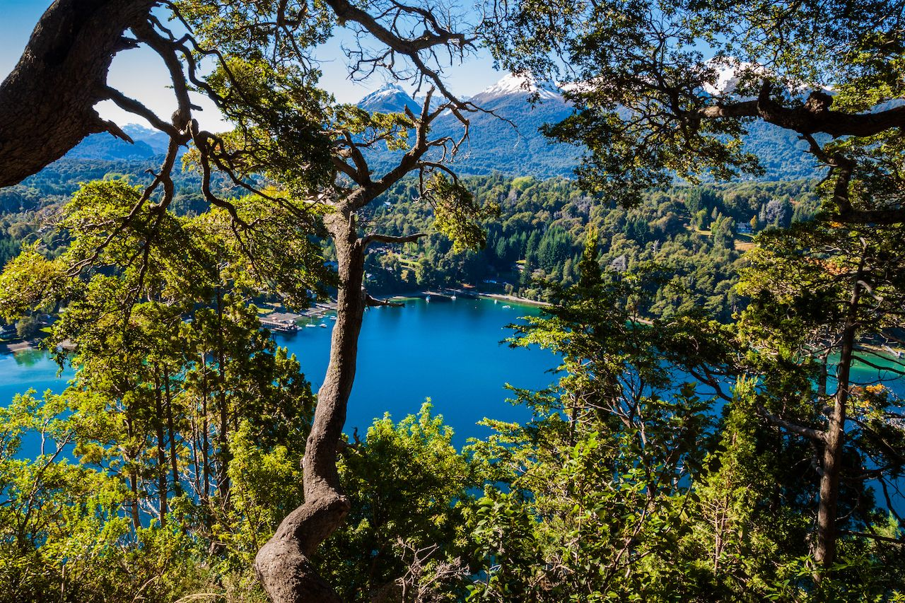 Beautiful landscape from Nahuel Huapi Lake, Argentina