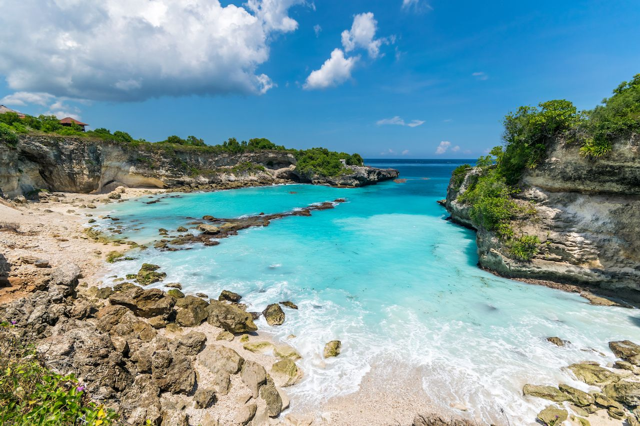 Blue Lagoon in Nusa Ceningan near Bali in Indonesia