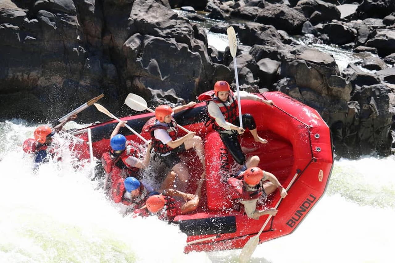 Whitewater rafting in Zambia