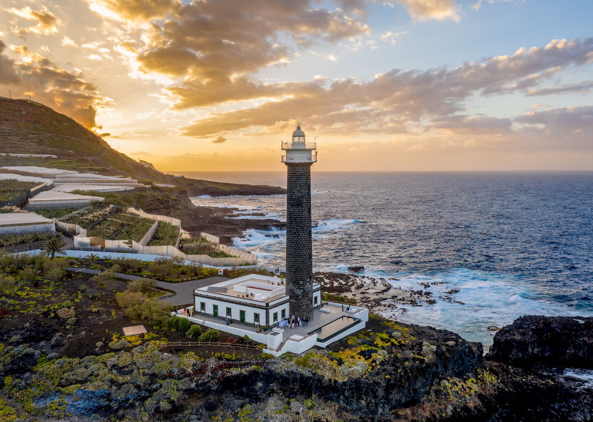 A lighthouse in the Canary Islands has been converted into a luxury hotel