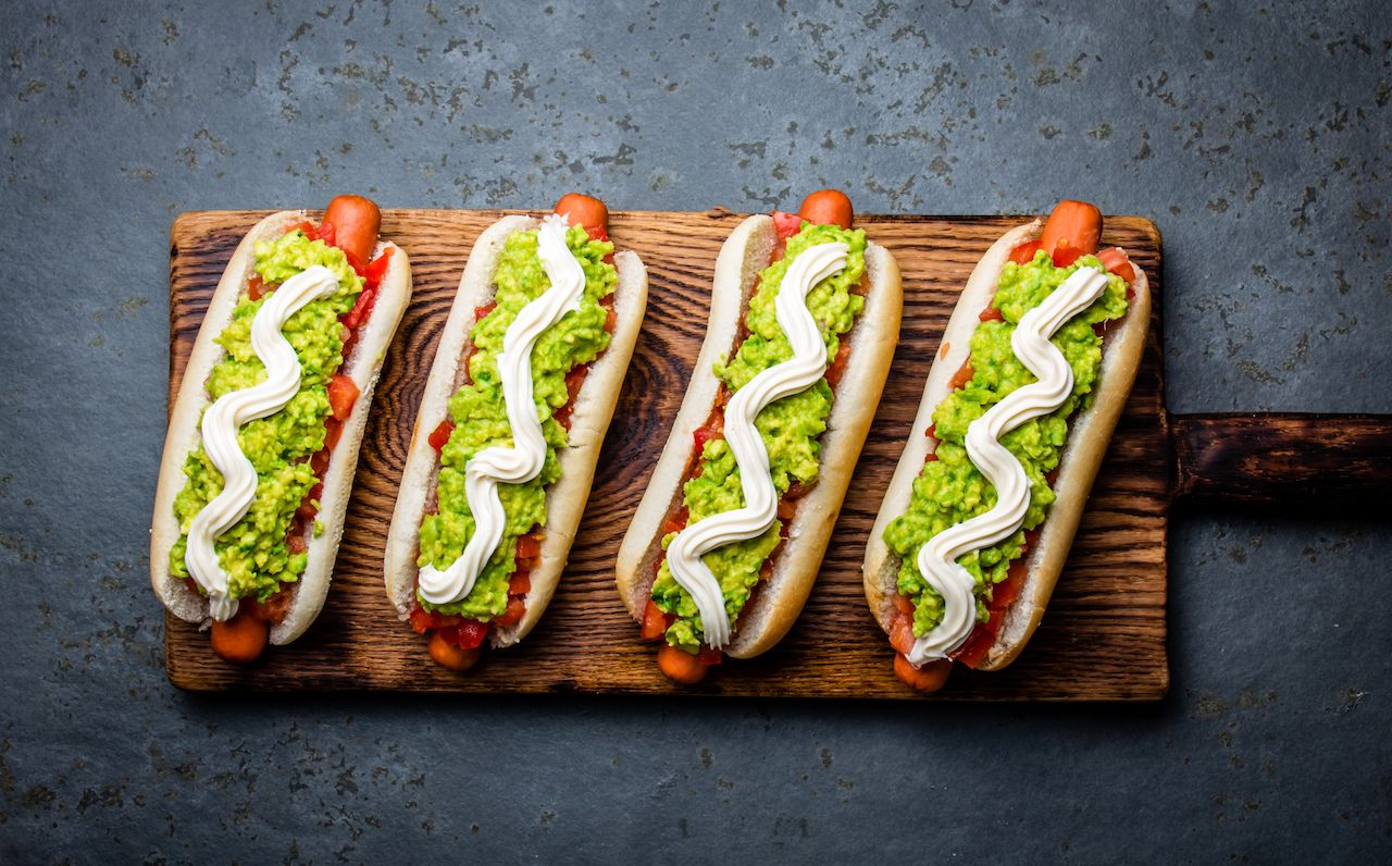 Chilean Completo Italiano hot dog
