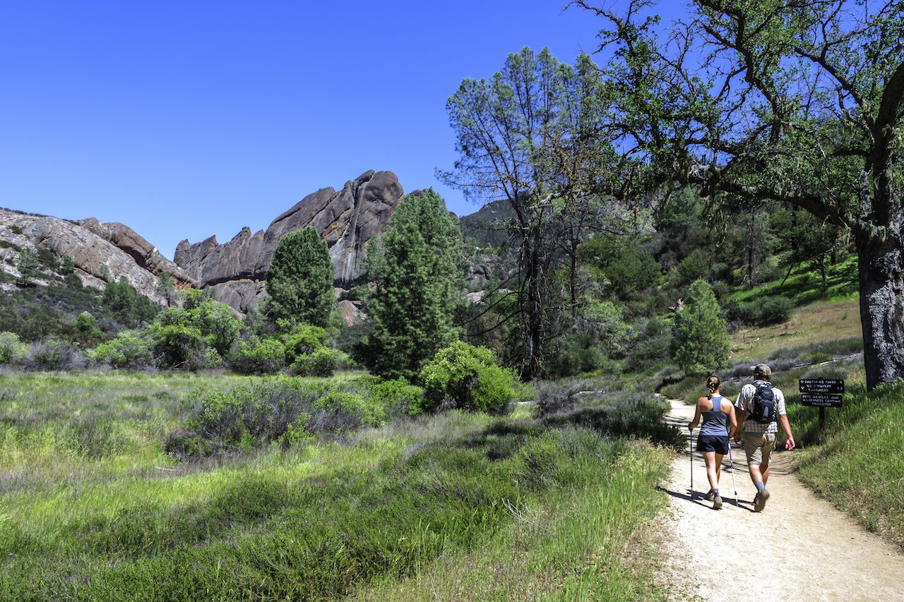 Couple Hiking Pinnacles National Park in Monterey County, California