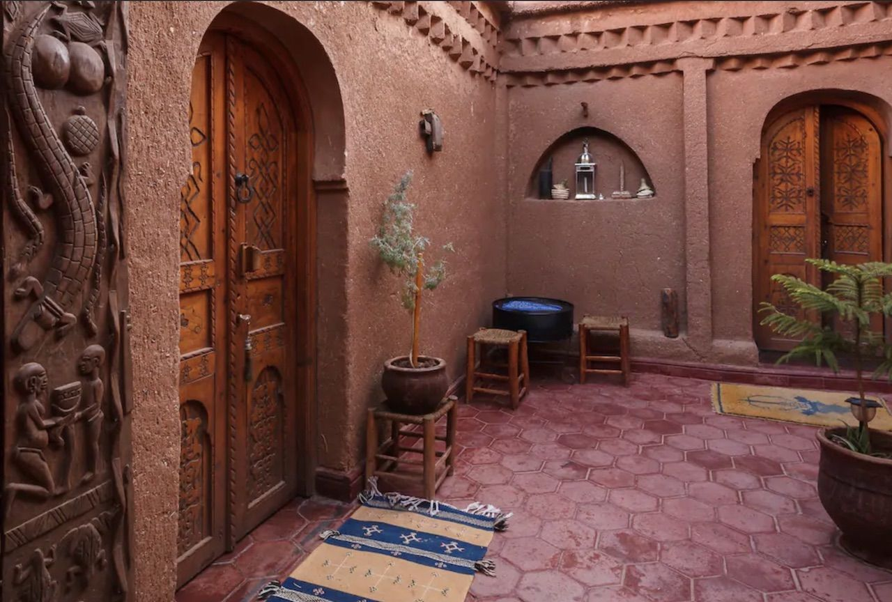 Courtyard in an Airbnb in Morocco