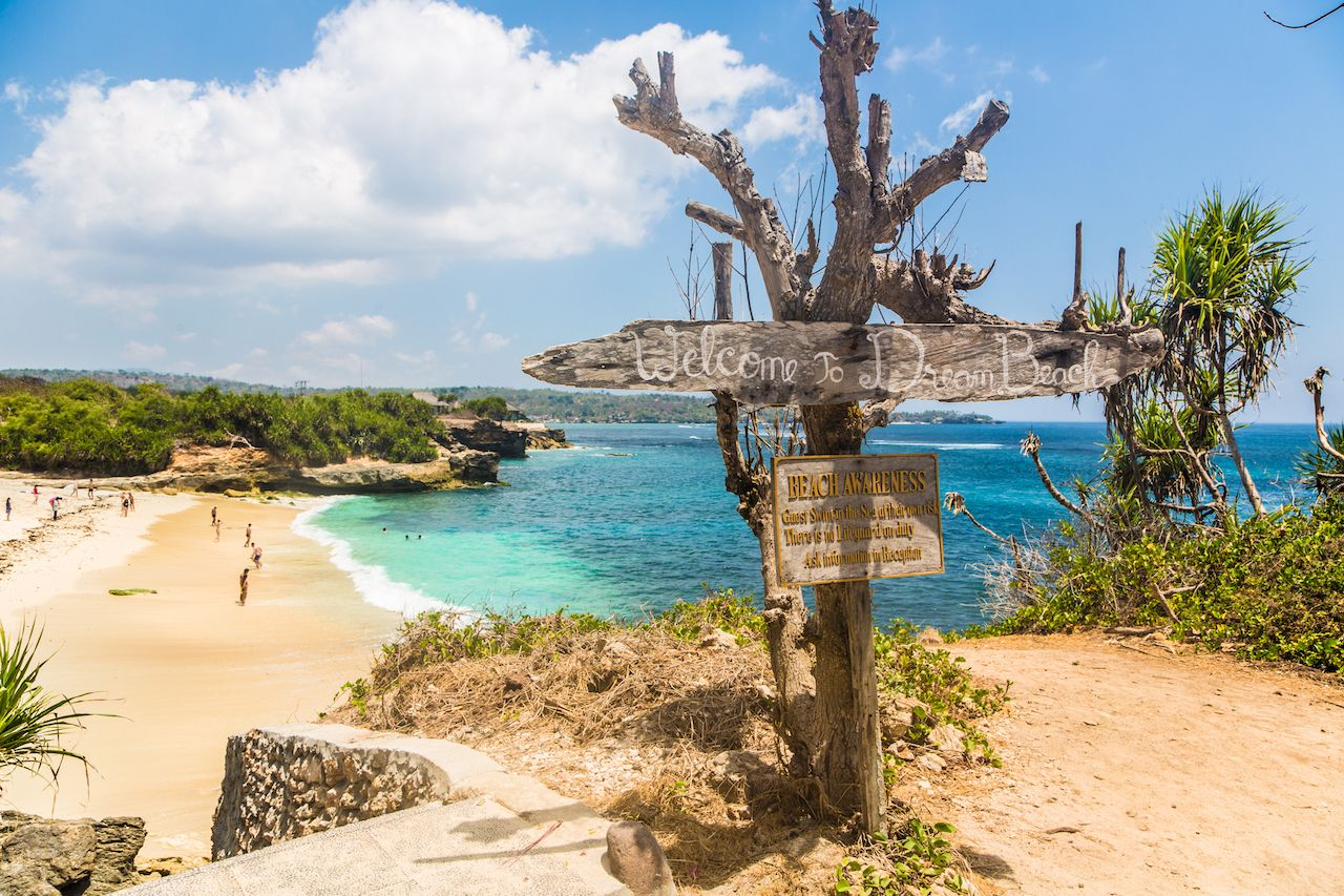 Dream beach in Nusa Lembongan island, Bali island in Indonesia