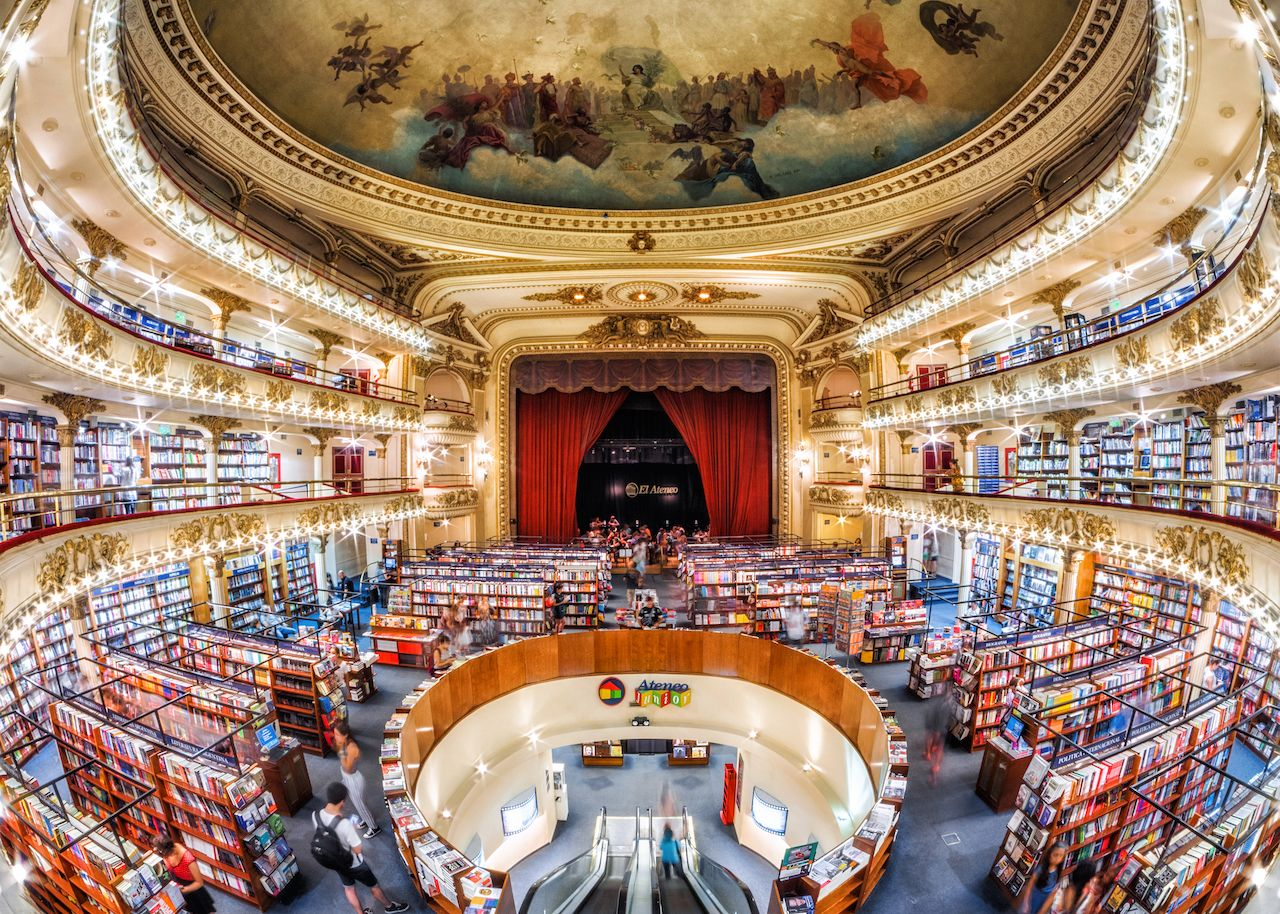 El Ateneo Grand Splendid, a bookshop set in a 100-year-old theater in Buenos Aires