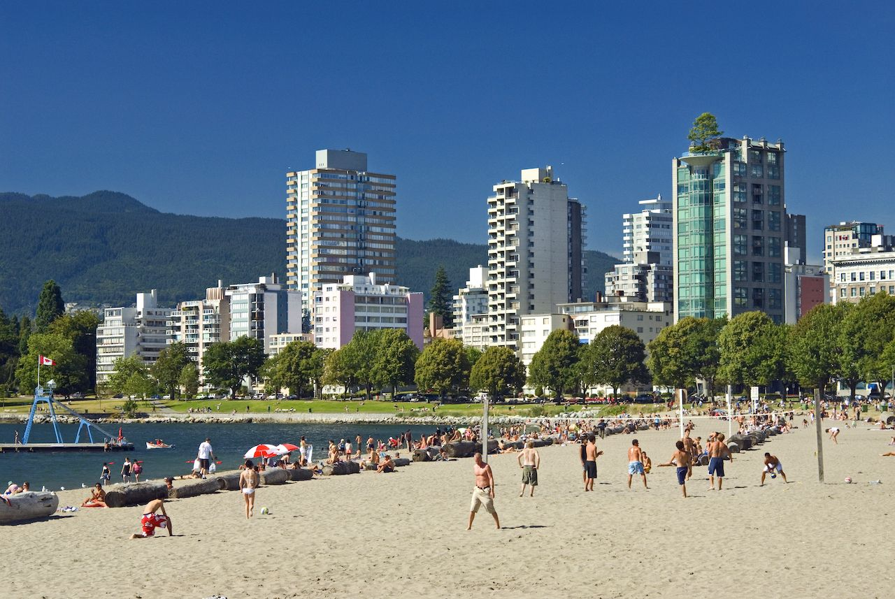 English Bay Beach in Vancouver, Canada