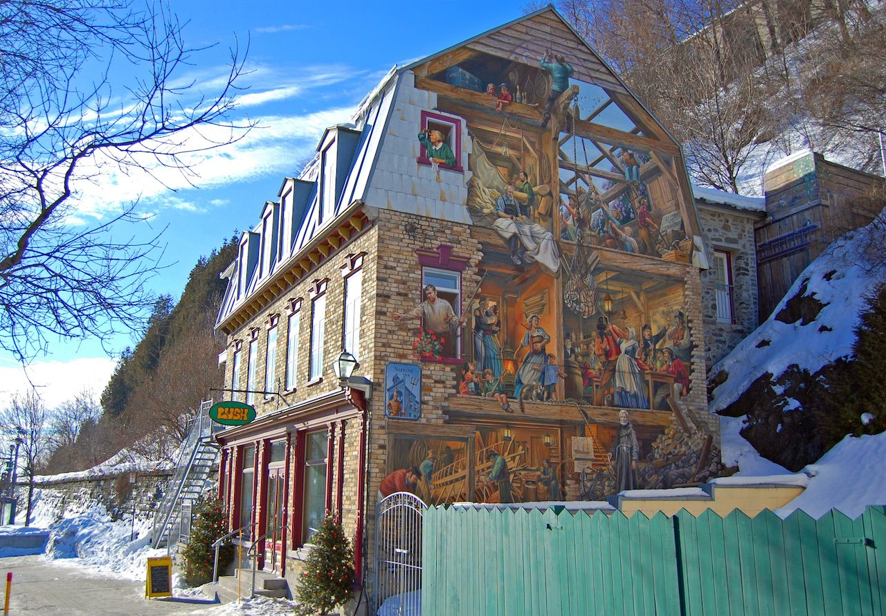 Fresco of Petit Champlain La Fresque du Petit-Champlain