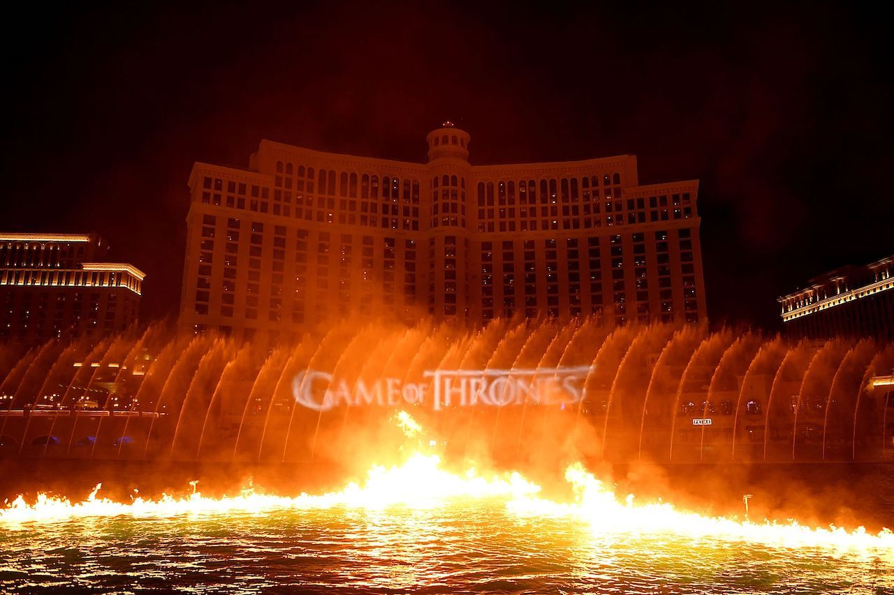 Game of Thrones fountain show