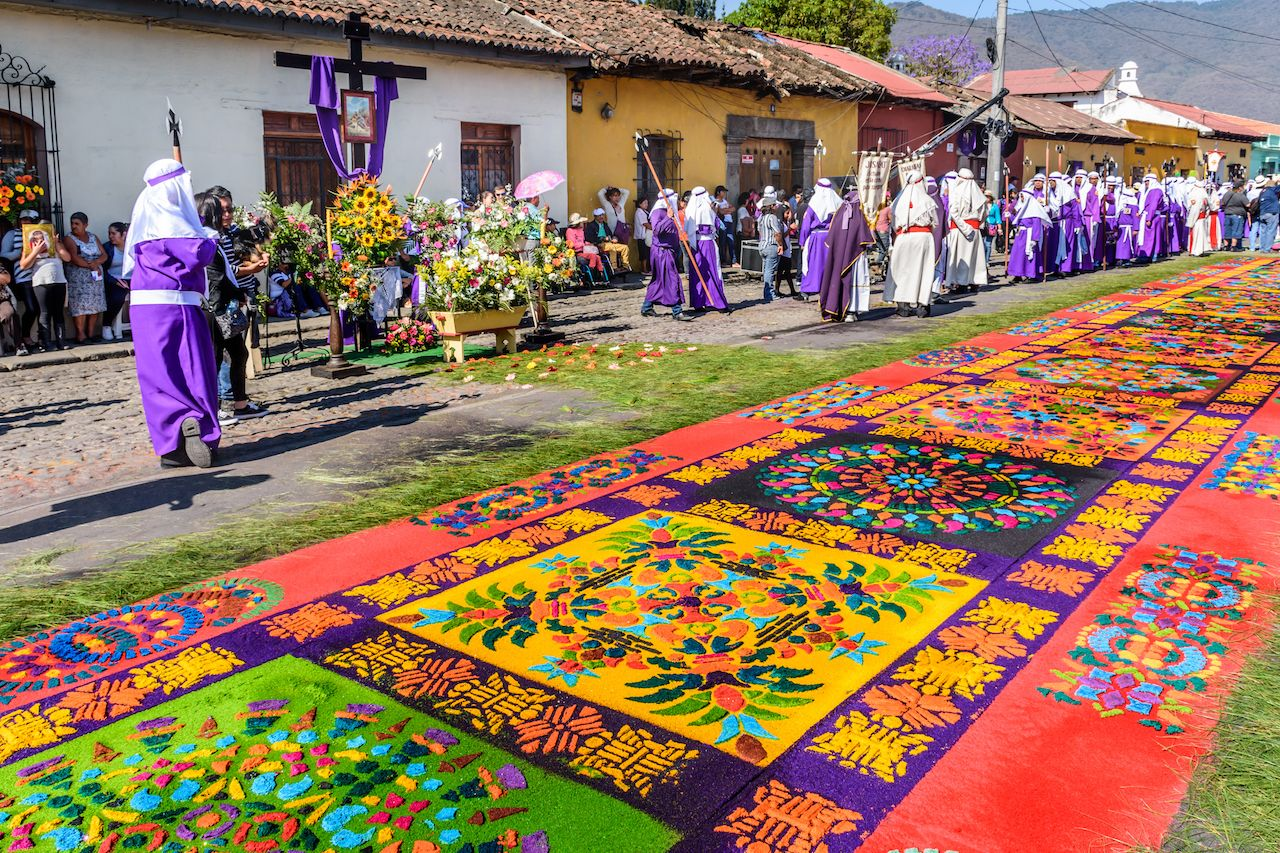 Works of art made to be trampled.. The post Guatemala has the most colorful Easter traditions in the world appeared first on Matador Network..