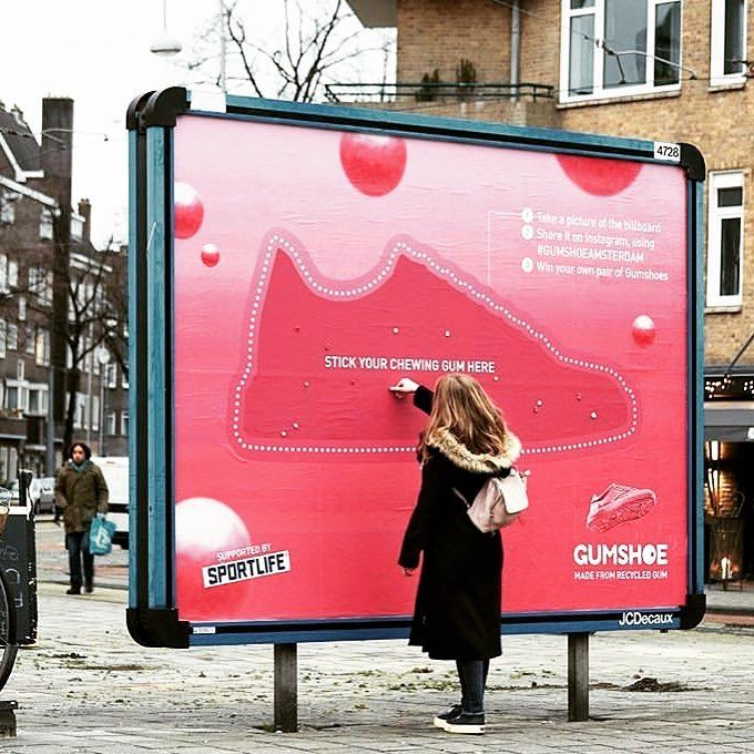 Gum shoe billboard