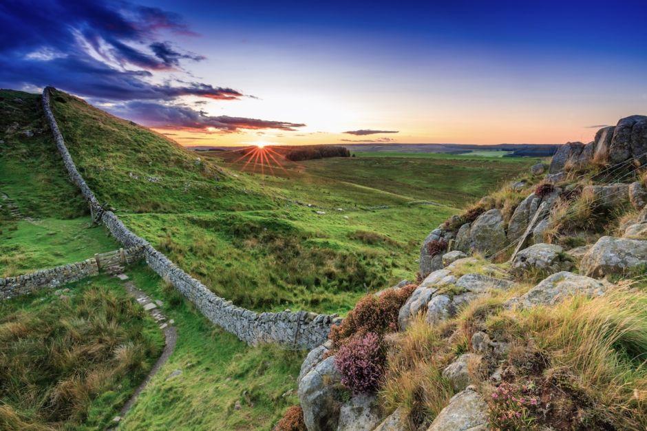 Hadrians Wall Northumberland England