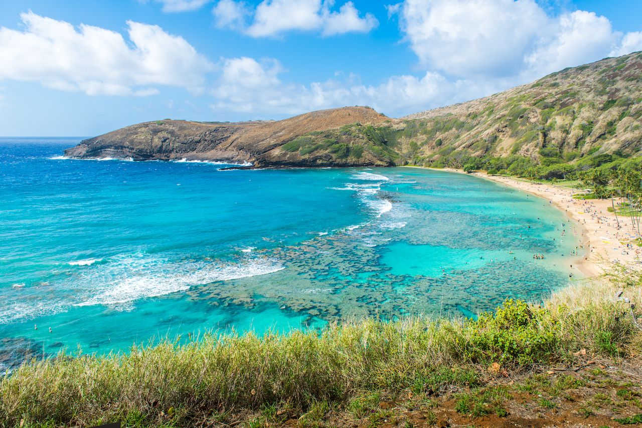 Hanauma Bay, in Oahu, Hawaii