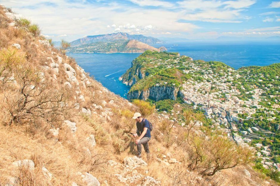 Hiking near Capri Italy
